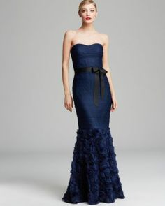 Boutique Gown - Strapless Sweetheart Neck with Ribbon Belt  Bloomingdale's