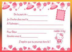 carte invitation anniversaire à imprimer gratuite fille