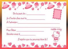 Carte Invitation Anniversaire Fille