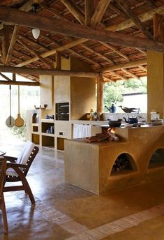 I like the field: Wood stove - Earthship, Tropical Houses, Future House, Beautiful Homes, Architecture Design, House Plans, Sweet Home, New Homes, House Design