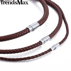 Trendsmax 4/6/8mm Brown Braided Cord Rope Man-made Leather Necklace W/ Silver Tone Magnetic Clasp UNM27 -  Check Best Price for. We provide the best deals of finest and low cost which integrated super save shipping for Trendsmax 4/6/8mm Brown Braided Cord Rope Man-made Leather Necklace w/ Silver Tone Magnetic Clasp UNM27 or any product promotions.  I think you are very happy To be Get Trendsmax 4/6/8mm Brown Braided Cord Rope Man-made Leather Necklace w/ Silver Tone Magnetic Clasp UNM27 in…