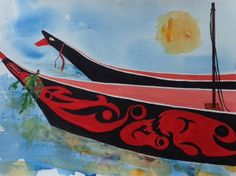 April 2014: Northwest Tribal Canoes by Carolyn Bowlus. Diagnosed with MS in 2000, Carolyn turns to her art hobbies. Her recent artwork is inspired by her travels to the Pacific Northwest. To view more of Carolyn's work and to send and eCard, please visit http://mymsaa.org/artshowcase2014/aom/