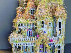 Woodland fairy house. Fairy dollhouse, fairy cottage, fairy apothecary, fairy furniturem fairy garden, fairy display. Four rooms! by TinkerWhims on Etsy https://www.etsy.com/listing/219123842/woodland-fairy-house-fairy-dollhouse