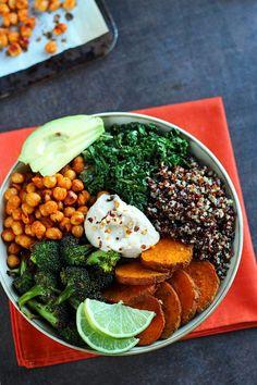 Roasted Veggie Quinoa Bowl #vegan #glutenfree - http://ilovevegan.com