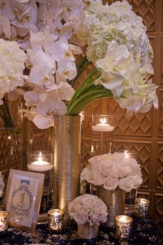 Wedding Decor with a Touch of Gold. Styled by Posh Productions | On Location at The Blue Room, Roosevelt New Orleans | Photos by Ardent Studio | Floral Decor by Bella Blooms Floral | Table Numbers, Menus & Invitations by Stationery Studio | Rentals by Event Rental
