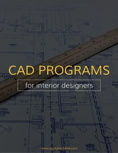 Look no further than here for the best CAD software for your interior design business. These are the top tools for your drawings and renderings. #interiordesignbusiness #cktradesecrets #CADprograms
