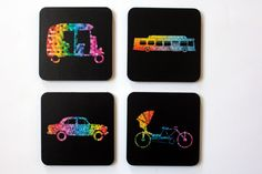 Buy Coasters Online in India Designer Coasters | Indian Transport - Coasters | PosterGully