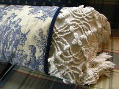 i would love to make the bedspread from Target I saw today in these two fabrics; only black toule