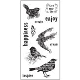 SALE - Fiskars For the Birds Clear Stamps All Occasion Juego De Sellos Transparentes Fabric Crafts, Paper Crafts, Hampton Art, Online Craft Store, Bubble Envelopes, Clear Stamps, Birds, Scrapbook, Etsy