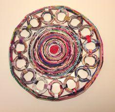 Posafuentes, hecho con papel de revistas - Magazine paper crafts