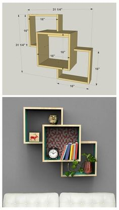 DIY Wall-Mounted Display Shelves :: Find the FREE PLANS for this project and man. - Rzeczy do kupienia - Regal Display, Diy Regal, Creation Deco, Woodworking Projects Diy, Woodworking Tools, Popular Woodworking, Woodworking Furniture, Woodworking Accessories, Woodworking Planes