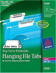 photo about Printable Hanging File Folder Tab Inserts referred to as Pinterest