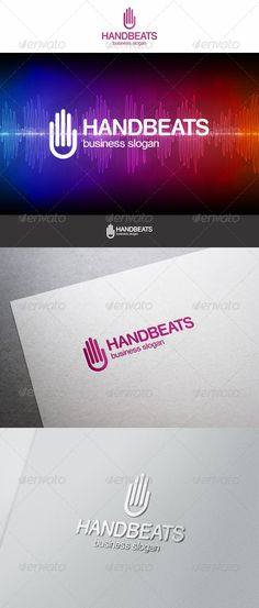 Hand Beats Logo - Equalizer simple Logo. Colorful logo for music or media business.  An excellent logo template highly suitable for music, entertainment and audio technology businesses. Is a logo that can be used by MultiMedia developers, radio station, audio designers, design agencies, web designers, graphic designers ; Suitable for companies engaged in music, media, record companies, music studios, music stores, entertainment, event organizer, and other related companies. etc.