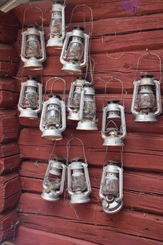 Arvselen. Running a fäbod without electricity requires many oil lamps..