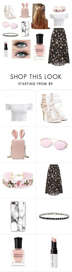 """@me"" by large-katelynn on Polyvore featuring Forever 21, Ulla Johnson, Casetify, Glitzy Rocks, Deborah Lippmann and Bobbi Brown Cosmetics"