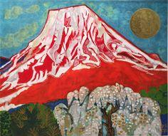 'Mt. Fuji (2014)' lithograph by Tamako KATAOKA