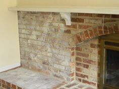 Our family room has quite a large fireplace and hearth. While the brick was attractive, it needed brightening up. I like the texture and look of brick and didn't want to paint a thick coat o…