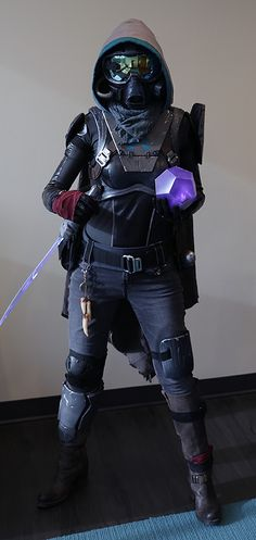 Destiny Hunter Bladedancer costume  Used the pic to make my own pattern pieces for the cape and foam armor. My son was thrilled with the outcome and he was the only Destiny Hunter in town this year. :)