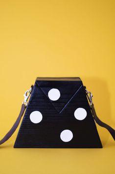 handmade wooden bag Wooden Bag, Handmade Wooden, Wearing Black, Tiffany, How To Wear, Bags, Cots, Figurine, Handbags