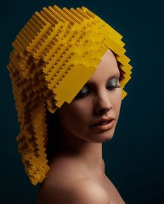 Hair Wigs Made From LEGO Blocks. Awesome for some sort of costume idea
