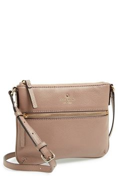 Free shipping and returns on kate spade new york 'cobble hill - tenley' crossbody bag at Nordstrom.com. Logo embossing and an exposed front zipper add goldtone glints to a compact crossbody bag styled in soft, pebbled leather.