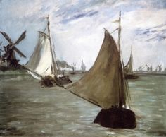 """View in Holland"" (1872), by French artist - Édouard Manet (1832-1883), Oil on canvas, 50.2 x 60.3 cm. (19.76 x 23.74 in.), Philadelphia Museum of Art - Philadelphia, Pennsylvania, USA."