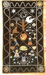 Image result for rekipeitto Wool Embroidery, Indigenous Art, Tapestry Weaving, Finland, Advent Calendar, Folk, Kids Rugs, Beads, History