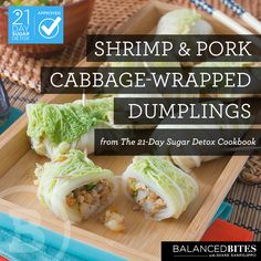 Shrimp & Pork Cabbage - Wrapped Dumplings #21dsd #balancedbites #dumplings