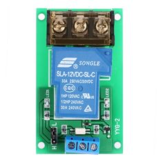 1-Channel DC 12V 30A Relay Board Module Optocoupler Isolation High/Low Trigger