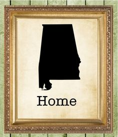 BUY 3 GET 1 FREE Alabama Home State Wall by MagnoliaHousePrints, $10.00