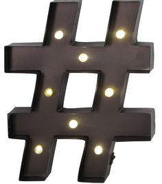 "Hudson 43™ ""Pound"" Symbol Metal LED Marquee Brown Sign 10''X13''"