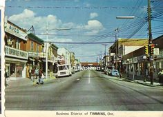 Timmins, Ontario.  Beautiful postcards from Canada.