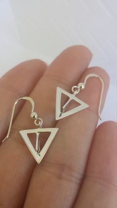 Double Arrow  Sterling Silver Earrings by CandiceRuhlDesigns