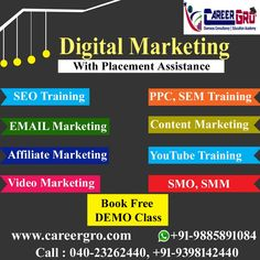 Careergro Overseas Consultant is one of the best study abroad consultants in Hyderabad. We provide best services for study, work and want to migrate abroad. Email Marketing, Content Marketing, Affiliate Marketing, Digital Marketing, Seo Training, Overseas Education, Study Abroad, Canada, Money