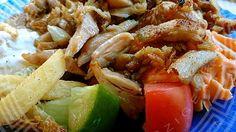 Gyros Tál Meat, Chicken, Food, Beef, Meal, Essen, Hoods, Meals, Eten