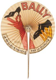 Eventail, Bally, d'après Leonetto Cappiello, 1933 Bois, métal, papier, lithographie couleur Musée des Arts décoratifs, Paris