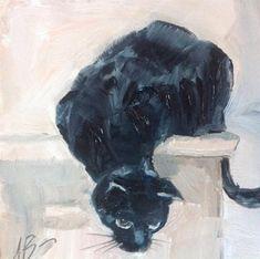 """Lucky Blackie"" original fine art by Annette Balesteri"