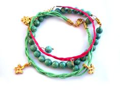 Set of three handmade elegant bracelets Free by twolittlefairies, €20.00