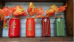 Fall Mason Jars - Mason Jar Crafts Love