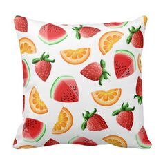 Choose from a wide variety of Watermelon cushion designs or create your own from scratch! Shop now for custom pillows & much more! Watermelon Fruit Salad, Decorative Throws, Throw Cushions, Custom Pillows, Home Accessories, Create Your Own, Strawberry, Orange, Design