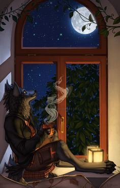 The Moon and I by *Shadow-Wolf on deviantART