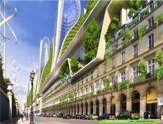 """Vincent Callebaut's 2050 Vision of Paris as a """"Smart City"""""""
