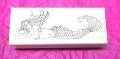 Great Impressions mermaid rubber stamp mermaids fantasy women lady fish tails #GreatImpressions #Mermaids