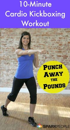 Punch away the pounds in 10 minutes with this fast and effective routine! | via @SparkPeople #fitness #workout #exercise