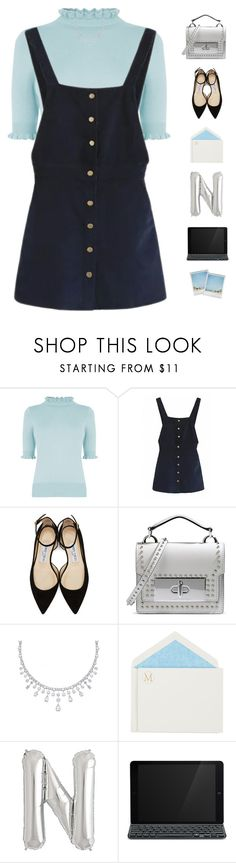 """""""Overall I'm pretty well"""" by genesis129 on Polyvore featuring Oasis, WithChic, Jimmy Choo, Marc Jacobs, Connor, Logitech, Polaroid and vintage"""
