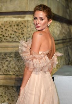 custom Halfpenny London pink gown, David Morris jewels, and Aspinal of London clutch. Jessie Buckley, Lace Dress, Dress Up, Best Costume Design, Letitia Wright, Millie Mackintosh, British Academy Film Awards, Pink Gowns, Fairy Princesses