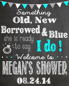 bridal shower chalkboard sign old new by lalaexpressions on etsy bridal shower chalkboard