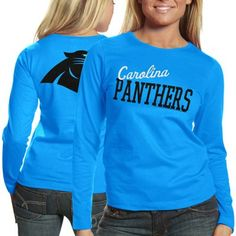 Carolina Panthers Ladies Game Day Long Sleeve T-Shirt - Panther Blue