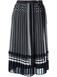 Sacai pleated printed skirt
