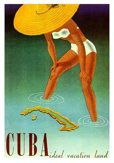 Cuba: Ideal Vacation Land. Vintage poster, 1951.  Via oldadvertising:    Cuba, the Ideal Vacation Land  by paul.malon on Flickr.  Via Flickr: 1951.
